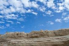 The Sand That Is Superimposed Stock Photography