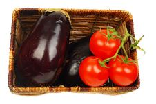 Free Eggplants And Tomatoes. Royalty Free Stock Photos - 16666008