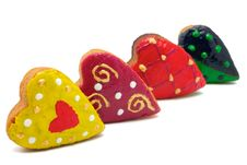 Free Cookies - Four Hearts Royalty Free Stock Photos - 16667018