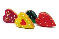Free Cookies - Hearts Stock Photography - 16667022