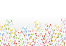 Free Candy Canes Background Royalty Free Stock Image - 16667606