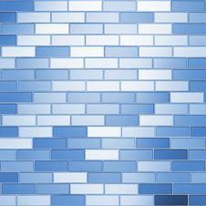Free Blue Bricks Royalty Free Stock Image - 16667626