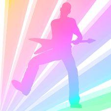 Free Playing Guitar Man Stock Photography - 16668092