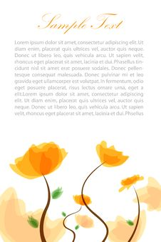 Free Floral Text Template Stock Image - 16668181