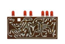 Circuit Board With Leds Stock Photography