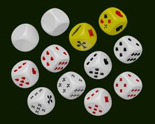 Free Dice Set Royalty Free Stock Images - 16669239