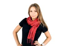Free Girl In Warm Scarf Stock Photography - 16669312