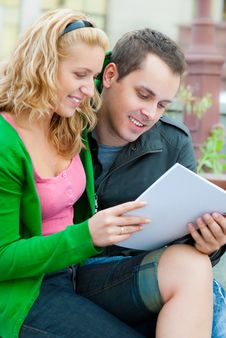 Free A Couple Of Students Studying Stock Photo - 16669770