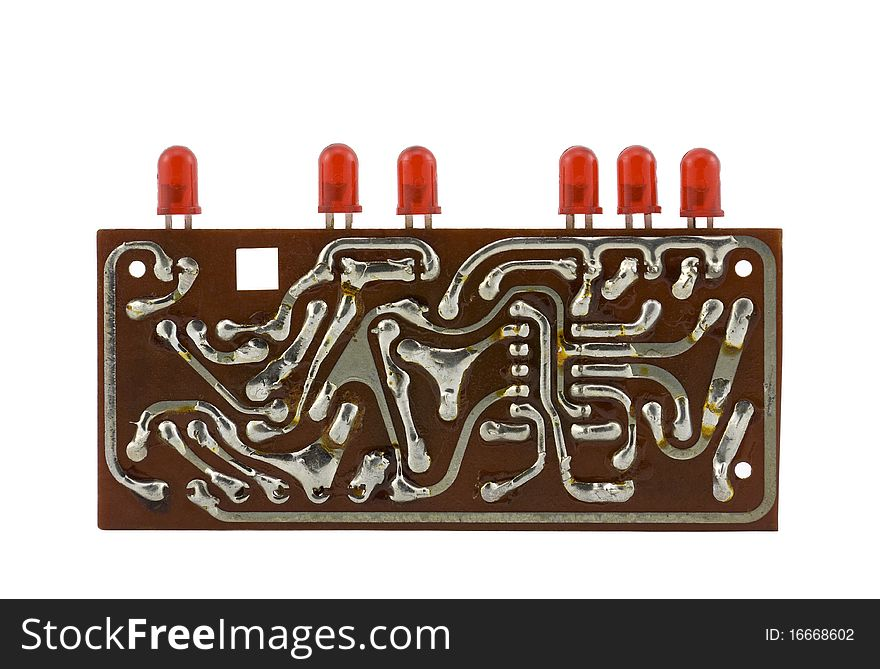 Circuit board with leds