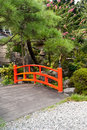 Free Red Japanese Bridge Royalty Free Stock Photography - 16670177