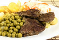 Free Roast Beef With Green Pea Royalty Free Stock Photography - 16672797