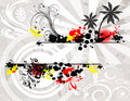 Free Abstract Summer Background With Palm Stock Photography - 16673442