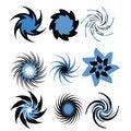 Free Set Of Spirals Royalty Free Stock Photos - 16679238
