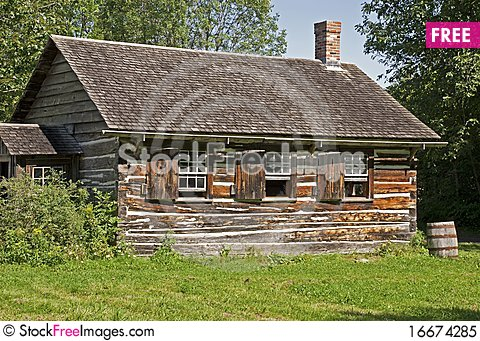 Old Canadian log house in summer. Old Canadian Log House In Summer   Free Stock Images   Photos