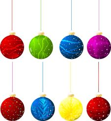 Free Vector Christmas Balls Royalty Free Stock Photography - 16670327