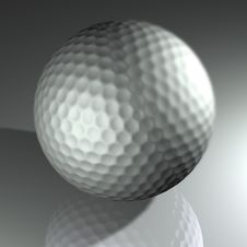 Free Silver Golf Ball Stock Image - 16670781