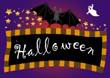 Halloween Banner. Vector. Royalty Free Stock Images