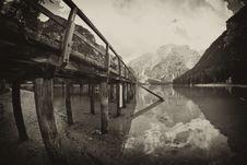 Braies Lake, Italy Royalty Free Stock Image