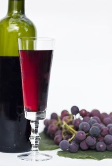 Free Red Wine And Grapes Stock Photo - 16672110