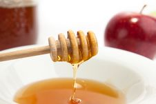 Plate With The Fresh Honey Stock Image