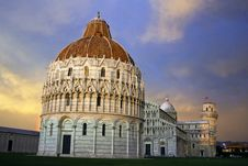 Free Sunset In Piazza Dei Miracoli, Pisa Stock Image - 16672451