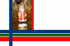 Free Christmas Border With Saint Nicholas Royalty Free Stock Images - 16672609