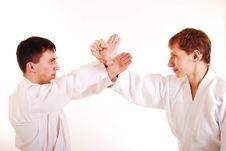 Free Two Karatekas. Stock Images - 16672614