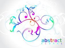 Abstract Rainbow Floral Stock Photos