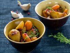 Free Roasted Vegetables Royalty Free Stock Images - 16673219
