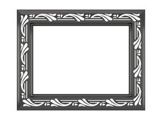 Free Antique Ornamented Picture Frame Isolated Stock Photography - 16673532