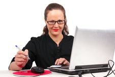 Free Businesswoman In Office Stock Image - 16674051