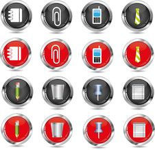 Free Office/business Icons Royalty Free Stock Images - 16674599