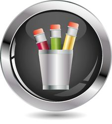 Free Pencil Black Button Stock Image - 16674601