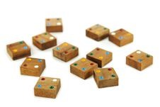 Free Wooden Square Figures Isolated Stock Photography - 16674802