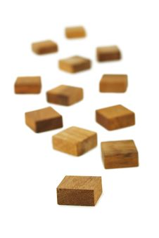 Free Wooden Square Figures Isolated Royalty Free Stock Photos - 16674808