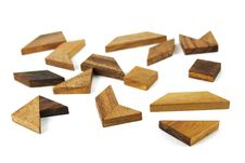 Free Many Wooden Geometrical Figures Puzzle Stock Image - 16674851