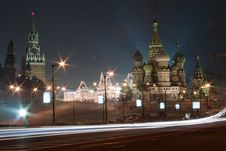Free Moscow Red Square At Night Stock Photography - 16675562