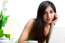 Free Beautiful Woman  In Cafe Stock Photography - 16675762