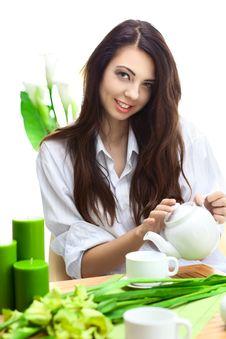 Free Beautiful Woman  In Cafe Stock Image - 16675781