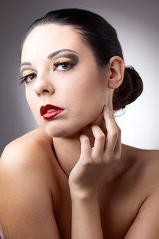 Free Beautiful Woman Over Grey Background Stock Photo - 16675850