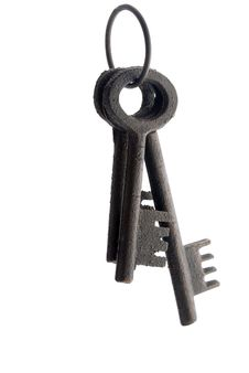 Free Three Old Fashinoed Keys On A Ring Royalty Free Stock Photography - 16676377