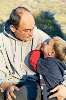 Free Father And Son On Natural Background Stock Photography - 16676502