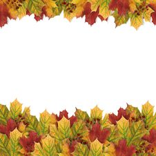 Free Autumn Card With Autumn Leaves Stock Images - 16677684