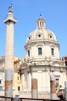 Free Traian Column And Santa Maria Di Loreto Stock Photo - 16677810
