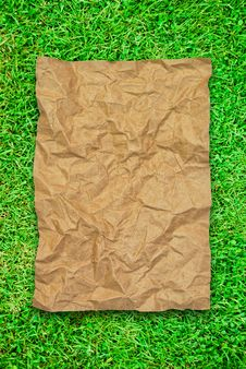 Free Crumpled Brown Recycle Paper Royalty Free Stock Images - 16677909