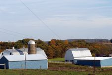 Free New England Farm In Fall Stock Image - 16678081