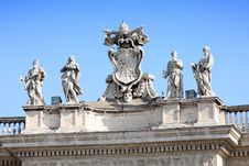 Free Statues On Top Of A St. Peter S Basilica Stock Photos - 16678163
