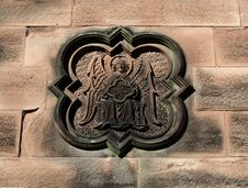Free An Ornate Stone Carving On Church Wall. Royalty Free Stock Image - 16678356