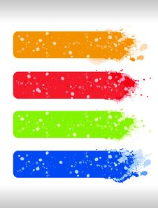 Free Multicolor Grunge Banners Royalty Free Stock Image - 16678786