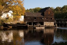 Free Historic Water Mill, Philipsburg Manor, NY Stock Photo - 16679500
